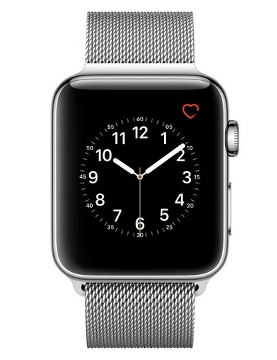 Apple - Watch Series 2 Stainless Steel Case 42mm