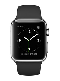 Apple - Watch Series 1 Stainless Steel Case 38mm