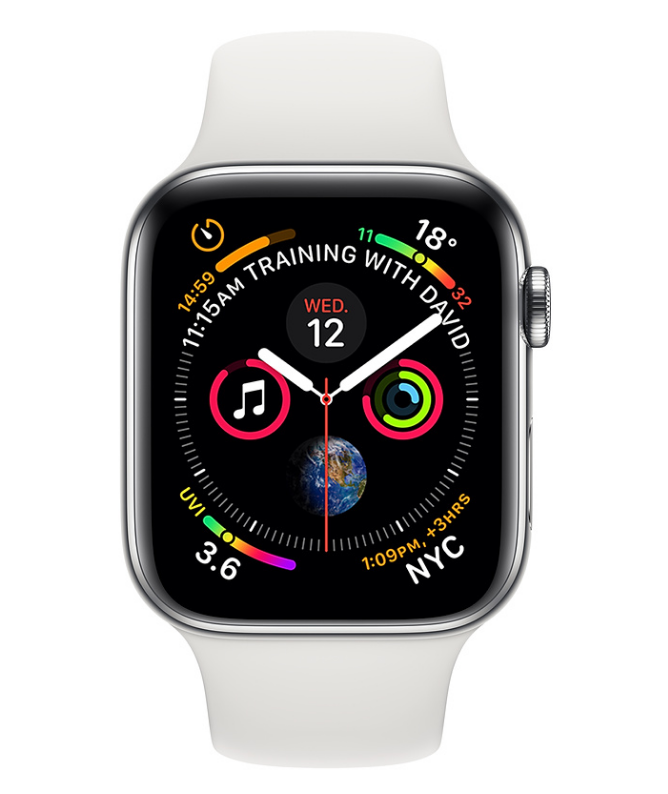 Apple Watch Series 4 GPS + 4G Stainless Steel Case