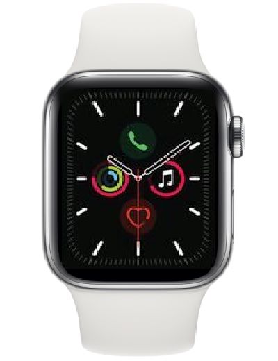 Apple - Watch Series 5 GPS + Cellular Stainless Steel 40mm