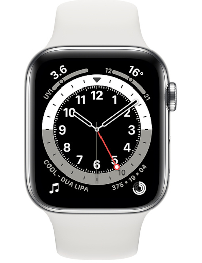 Apple - Watch Series 6 GPS + Cellular Stainless Steel 44mm